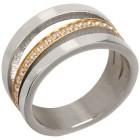 Ring Titan bicolor mit Zirkonia   - 103352100000 - 1 - 140px