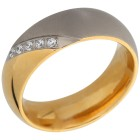 Ring Titan bicolor mit Zirkonia   - 103352200000 - 1 - 140px