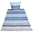 WinterDreams Bettwäsche 2tlg. Streifen blau-grau - 103361100000 - 1 - 140px