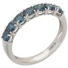 Ring 585 Weißgold, Diamanten blau   - 103374000000 - 1 - 140px