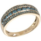 Ring 585 Gelbgold Brillanten blau   - 103379600000 - 1 - 140px
