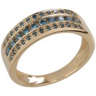 Ring 375 Gelbgold Brillanten blau 18 - 103380600001 - 1 - 140px