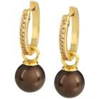 Ohrhänger vergoldet, Muschelkernperle aubergine - 103407100000 - 1 - 140px