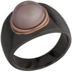 Ring schwarz vergoldet Muschelkernperle rosé   - 103407800000 - 1 - 140px
