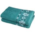 Duschtuch 2-teilig, Lilien smaragd - 103501400000 - 1 - 140px