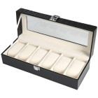 Uhrenbox für 6 Uhren, PU Leder mit Krokoprint - 103511900000 - 1 - 140px