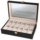 Uhrenbox für 12 Uhren, Holz, schwarz, matt - 103512200000 - 1 - 140px