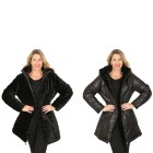 FASHION NEWS Wende-Webpelz-Mantel, schwarz 48/50 (XL) - 103518700004 - 1 - 140px