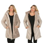 FASHION NEWS Wende-Webpelz-Mantel, taupe 52/54 (XXL) - 103518900005 - 1 - 140px