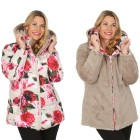 FASHION NEWS Wende-Webpelz-Jacke, taupe