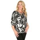 RÖSSLER SELECTION Damen-Shirt schwarz/weiß 52 - 103527800009 - 1 - 140px