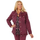 CANDY CURVES Jeansjacke cassis