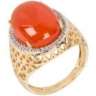 Ring 925 St. Silber vergoldet Karneol+Zirkon   - 103563200000 - 1 - 140px