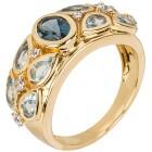 Ring 925 vergoldet Topas behandelt+Zirkon   - 103564000000 - 1 - 140px