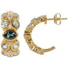 Creolen 925 Silber vergoldet Topas beh.+Zirkon - 103564100000 - 1 - 140px