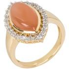 Ring 925 Silber vergoldet Mondstein+Zirkon   - 103564500000 - 1 - 140px