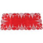 Tischläufer Weihnachtsbäume rot-silber 40x90 cm - 103580300000 - 1 - 140px