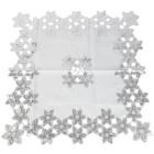 Mitteldecke weiß-silber 85x85 cm - 103580400000 - 1 - 140px