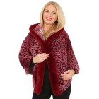 FASHION NEWS Webpelz-Cape bordeaux
