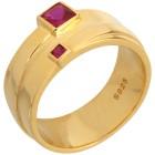 Ring 925 Silber vergoldet Zirkonia pink