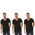 3er Pack Männer T-Shirt (Rippe)  schwarz   - 103670300000 - 1 - 140px