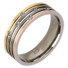 Ring Titan tricolor mit Zirkonia 21 - 103676300005 - 1 - 140px