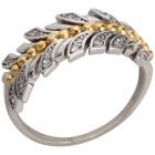 Ring 925 Sterling Silber bicolor Zirkonia   - 103680600000 - 1 - 140px