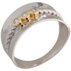 Ring 925 Sterling Silber bicolor Zirkonia   - 103680800000 - 1 - 140px