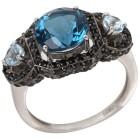 Ring 925 Sterling Silber Blautopas behandelt   - 103692200000 - 1 - 140px