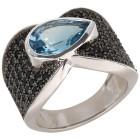 Ring 925 Sterling Silber Blautopas behandelt   - 103692500000 - 1 - 140px