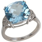 Ring 925 Sterling Silber Blautopas behandelt   - 103693100000 - 1 - 140px