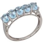 Ring 925 Sterling Silber Blautopas behandelt   - 103693300000 - 1 - 140px