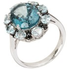 Ring 925 Sterling Silber Blautopas behandelt   - 103695600000 - 1 - 140px