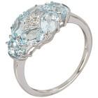Ring 925 Sterling Silber Blautopas behandelt   - 103696600000 - 1 - 140px