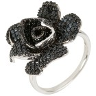 Blüten Ring 925 Sterling Silber Spinell   - 103720000000 - 1 - 140px