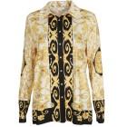 VI VA DIVA  Poloshirt schwarz/weiß/gold