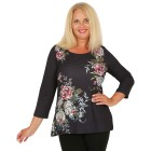 BRILLIANTSHIRTS Damen-Shirt schwarz/multicolor