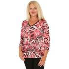 BRILLIANTSHIRTS Damen-Shirt schwarz/weiß/rot   - 103740400000 - 1 - 140px