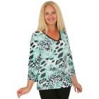 BRILLIANTSHIRTS Damen-Shirt schwarz/weiß/grün   - 103740600000 - 1 - 140px