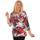 BRILLIANTSHIRTS Damen-Shirt schwarz/weiß/rot   - 103741200000 - 1 - 140px