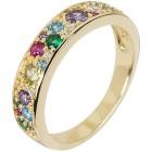 Ring 925 Silber vergoldet Zirkonia multicolor   - 103793100000 - 1 - 140px