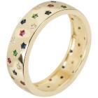 Ring 925 Silber vergoldet Zirkonia multicolor 16 - 103793800001 - 1 - 140px