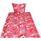 AllSeasons Bettwäsche 2tlg. Floral pink135x200cm - 103800900000 - 1 - 140px