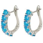 Creolen 925 Sterling Silber Äthiopischer Opal blau - 103818100000 - 1 - 140px