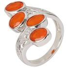 Ring 925 Sterling Silber Äthiopischer Opal orange   - 103818200000 - 1 - 140px