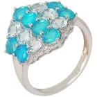 Ring 925 Sterling Silber Äthiopischer Opal blau   - 103818300000 - 1 - 140px