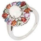 Ring 925 Silber Multi Saphir mit Opal+Zirkon 16 - 103885800001 - 1 - 140px