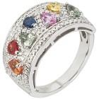 Ring 925 Silber Multi Saphir mit Zirkon   - 103886400000 - 1 - 140px