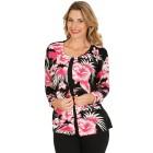 Strickjacke, Blumenprint, rosa   - 103900300000 - 1 - 140px