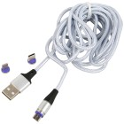 Clever Wounder 3in1 USB-Kabel, silber - 103902500000 - 1 - 140px